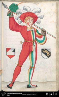 Nürnberger Schembart-Buch Erscheinungsjahr: 16XX  Cod. ms. KB 395  Folio 174