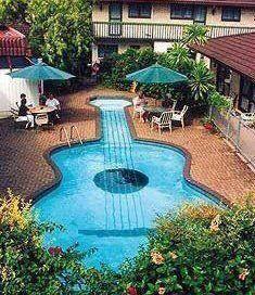 Guitar Shaped Pool