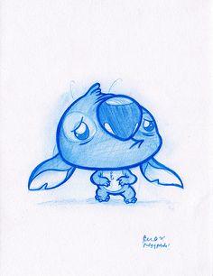 Blue Doodle #4: Sad Stitch :(! | por PodgyPanda