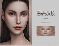 Sims 4 Cc Eyes, Sims 4 Cc Skin, Sims 4 Mm, Sims 4 Men Clothing, Sims 4 Mods Clothes, Face Contouring, Contouring And Highlighting, Highlighter Makeup, Contour Makeup