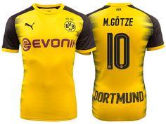6f1723754e5 Borussia Dortmund 2017-18 Champions League Shirt mario gotze Football  Uniforms