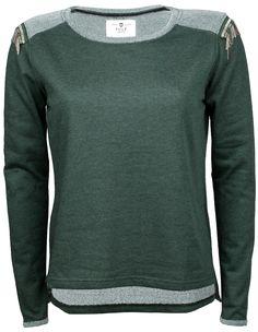 Tröjor | Pulz Jeans Sandi Pullover Autumn Forest Melange | Es Autumn Forest