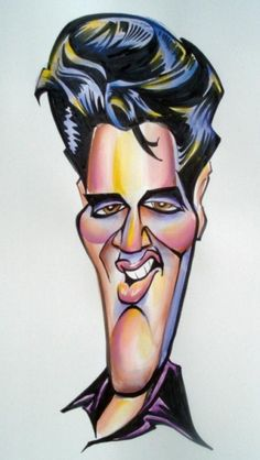Mark Hall Studio Caricature of Elvis Presley--Conference