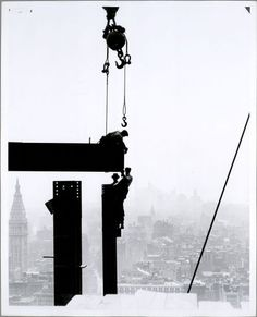 Empire state building under construction by American photographer Lewis Wickes Hine (1931)