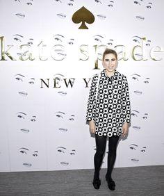 Pin for Later: Le Meilleur de la Fashion Week de New York Se Trouvait au Premier Rang Zosia Mamet Au défilé Kate Spade New York.