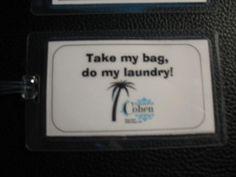 cute luggage tag idea