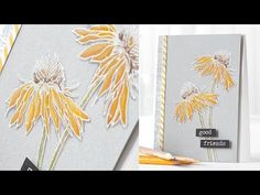 color pencil and gray pencil for amazing shadows on Gray yardstick, Exceptional demo of how to make stems appear behind the flower
