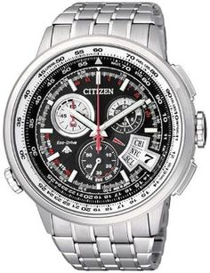 Men's Titanium Citizen Atomic Chrono-Time A.T Watch