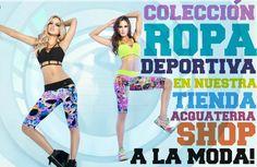 ¡Llega la nueva colección de ROPA DEPORTIVA a nuestra tienda Acquaterrashop! acquaterrashop.com (tienda bañadores bikinis Barcelona)