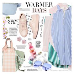 """""""Warmer Days Ahead: Spring Dresses"""" by katjuncica ❤ liked on Polyvore featuring Sacai, Loewe, Valentino, Palm Beach Jewelry, Amica and springdresses"""