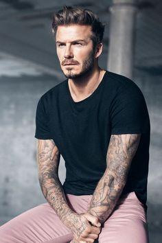 David Beckham & his medium hairstyle