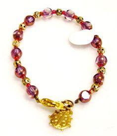 Children Jewelry  Bracelet with Lady Bug Charm by krantwist, $8.99