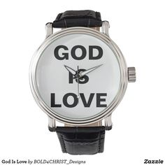 Shop God Is Love Watch created by Personalize it with photos & text or purchase as is! Vintage Leather, Vintage Men, Personalized Stationery, Bold Prints, Classic Looks, Gods Love, Going Out, Watches, Products