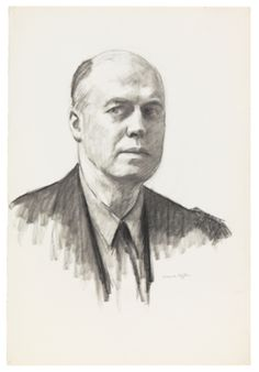 Edward Hopper / Self-Portrait / 1945 / Fabricated chalk and charcoal on paper