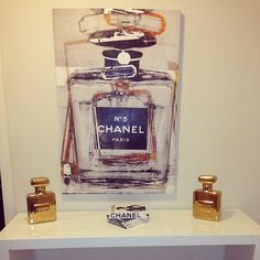 @catherinealexanderr maximized the glamour with our Parfum Coin Banks and Infinite Glam art.