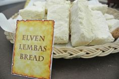 lord of the ring food ideas. OOoh, that would be so much fun to do for the reception!!