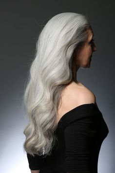 New goal; Be an older lady with long grey hair that's well kept instead of…