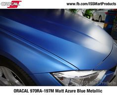 ORACAL 970RA Premium Wrapping Cast (7 photos) ORACAL 970RA Premium Wrapping Cast with Rapidair 96 Colours 110micron thickness  Colour Change, Paint Protection, Personalisation. ORACAL 970RA-197M Matt Azure Blue Metallic  #ORACAL #ORACAL970 #wrapcar #vinylwrap — in Singapore. #ISSMART  #paintisdead