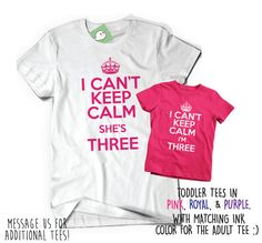 Set of Two Soft Birthday Tees T Shirt Tee Bday I Can't by BoooTees