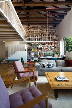 Architect Alberto Marcos turned a duplex into one continuous home - Mid Century Furniture