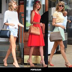 Taylor Swift's boxy bags.