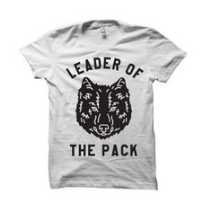 """Image of """"Leader of the Pack"""" White Tee"""