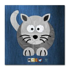 Meow The Cat by Design Turnpike Graphic Art on Wrapped Canvas