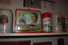 1974 Evel Knievel lunchbox and thermos, like new! It's gained about 25% in value sinced he croaked.