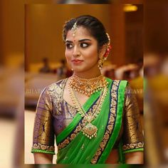 How To Clean Gold Jewelry With Vinegar Wedding Saree Blouse Designs, Half Saree Designs, Silk Saree Blouse Designs, Saree Blouse Patterns, Fancy Blouse Designs, Blouse Neck Designs, Lehenga Designs, Bridal Sarees South Indian, Indian Bridal