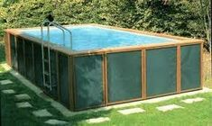 habillage piscine hors sol intex - Google Search Intex Above Ground Pools, In Ground Pools, Pool Spa, Rectangle Above Ground Pool, Pool Days, Outdoor Furniture, Outdoor Decor, Outdoor Living, Images