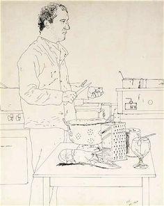 David Hockney, Peter Langan