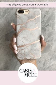 Stunning white and rose gold chrome marble case available for all iPhone models by CASES A LA MODE. Girly Phone Cases, Phone Covers, Awesome Phone Cases, Jessie, Samsung Cases, Iphone Cases, Iphone Phone, Rose Gold Phone, Gifts For Techies