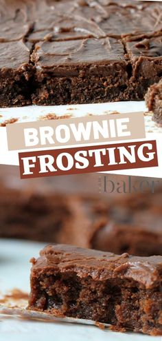An easy dessert to impress a non-fan of brownie frosting is by making them try this exceptional taste. The best dessert recipe that& heavenly delicious once tried. With creamy brownie frosting that melts in your mouth is just magic! Beste Brownies, Chewy Brownies, Homemade Brownies, Chocolate Brownies, Easy Brownies, Chocolate Frosting For Brownies, Boxed Brownies, Frosted Brownies, Blondie Brownies