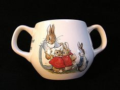 Wedgwood Beatrix Potter - Peter Rabbit Porcelain Childrens 2 Handled Baby Cup Toddler Cup on Etsy, $14.50