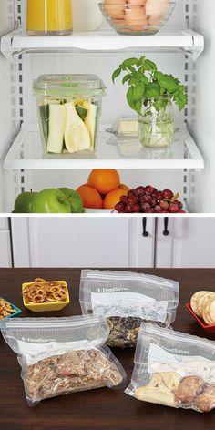 Boîtes fraicheur et sacs pour la machine de mise sous vide des aliments FoodSaver