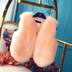 $15 2015 new Korean imitation rabbit fur vest fox fur vest short paragraph waistcoat fur coat Ms. Slim