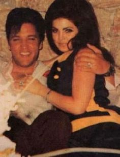 Elvis and Priscilla on the eve of their wedding 1967