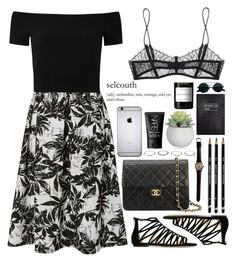 """Untitled #232"" by rachelallegra ❤ liked on Polyvore featuring Therapy, Alice + Olivia, Jimmy Choo, Chanel, Maison Close, New Look, NARS Cosmetics, Sloane Stationery and Byredo"
