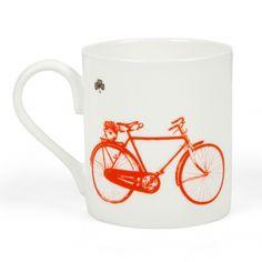 Sealed-with-Irish-Love—Old-Irish high nelly Bicycle-China mug Bicycle Illustration, Irish Coffee Mugs, Old Irish, Irish Design, Irish Cottage, Mug Printing, Mode Of Transport, China Mugs, Old Farm