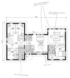 Common Room, Common Area, Roomspiration, House Blueprints, Planer, House Plans, Floor Plans, House Design, How To Plan