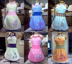 Precious My Little Pony Cutie Mark Aprons