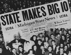 1948 State News Headline: State Makes Big 10 by Michigan State University Archives, via Flickr