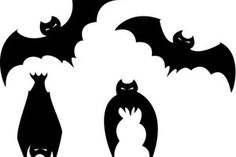 Creepy Halloween decoration to tinker - Fledermaus - Halloween Deko Creepy Halloween Decorations, Halloween Bats, Halloween Pumpkins, Happy Halloween, Pretty Halloween, Vintage Halloween, Scary Bat, Pumpkin Carving Templates, Pumpkin Art