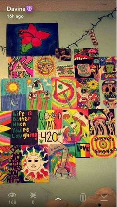 hippie painting ideas 566749934359074245 - Wall murals ideas bedroom inspiration 51 ideas Source by klbabyray Cute Canvas Paintings, Small Canvas Art, Mini Canvas Art, Hippie Painting, Trippy Painting, Diy Painting, Hippie Drawing, Psychedelic Drawings, Trippy Drawings