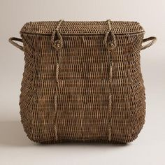 One of my favorite discoveries at WorldMarket.com: Natural Rattan Lucca Basket with Lid