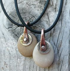 Adriatic beach stone pendant by LjBjewelry