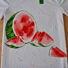 women and women Tshirt handpainted Tshirts by danaemoon on Etsy, $35.00