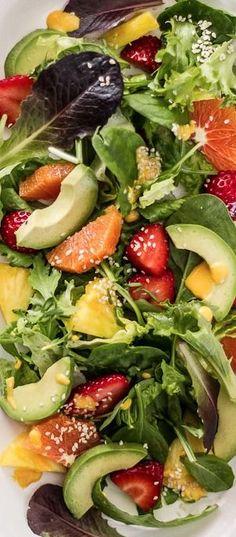Japanese Sunshine Salad with Ginger Dressing