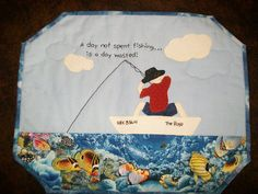 Placemat I stitched for my Stepdad