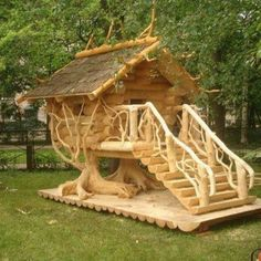 Wow!! Great looking coop:)  Too nice for chick coop, Would like for a guest house.  Maybe a coop but what a playhouse that would be.